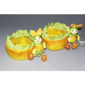 Košík so zajacom vyobraziť