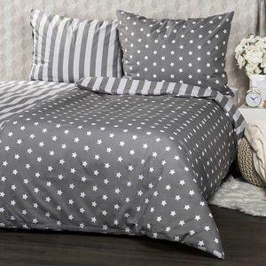 4Home Bavlnené obliečky Stars sivá, 140 x 200 cm, 70 x 90 cm vyobraziť