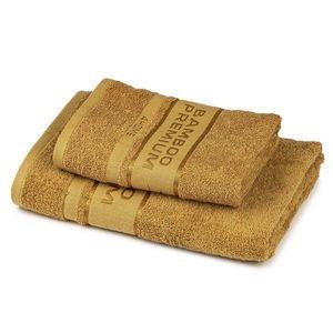 4Home Sada Bamboo Premium osuška a uterák svetlohnedá, 70 x 140 cm, 50 x 100 cm vyobraziť