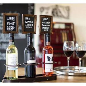 SECURIT Stojan na 3 fľaše s tabuľkami vyobraziť