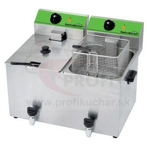 Stolová fritéza GastroMarket s ventilom, 2 x 8 l vyobraziť