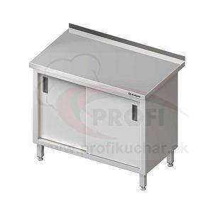 Pracovný stôl krytovaný - posuvné dvere 1500x600x850mm vyobraziť