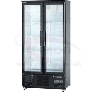 Presklená barová chladnička 2-dverová (posuvné) 490 l vyobraziť