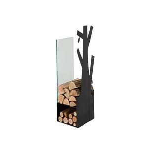 CAFDESIGN Zásobník na drevo sklo černý 270mm vyobraziť