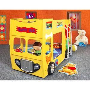 Artplast Detská poschodová posteľ Happy Bus žltý vyobraziť