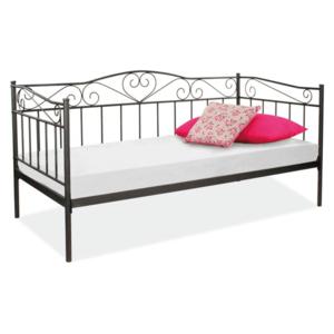 Signal Jednolôžková posteľ BIRMA Farba: Čierna vyobraziť