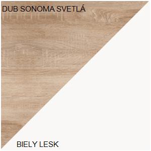WIP Skrinka STELLA STE-03 Farba: Dub sonoma svetlá / biely lesk vyobraziť