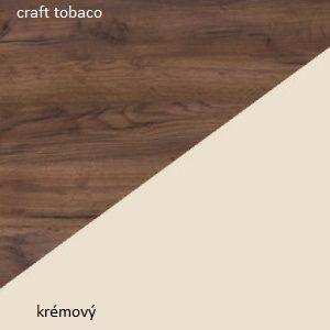 WIP Závesná skrinka VIKI 06 Farba: craft tobaco / krémový vyobraziť