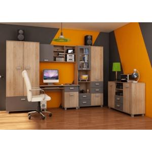 WIP Študentská izba SOLO II Farba: Dub sonoma svetlá / sivý mat vyobraziť