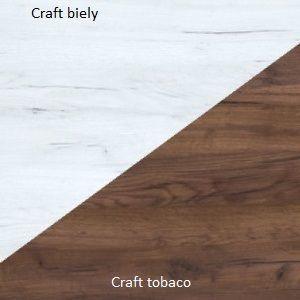 WIP Regál SOLO SOL 05 Farba: Craft tobaco / craft biely vyobraziť