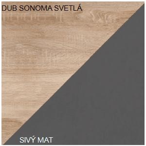 WIP Šatníková skriňa SOLO SOL 07 Farba: Dub sonoma svetlá / sivý mat vyobraziť