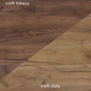WIP Šatníková skriňa SOLO SOL 07 Farba: Craft zlatý / craft tobaco vyobraziť