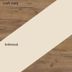 WIP Skriňa NOTTI 01 Farba: craft zlatý / krémová / craft zlatý vyobraziť