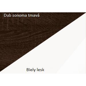 WIP Skriňa MAX 05 Farba: dub sonoma tmavý / biely lesk vyobraziť
