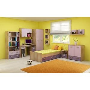 WIP Detská izba KITTY 2 Farba: Dub sonoma svetlá / levanduľa / fialová vyobraziť