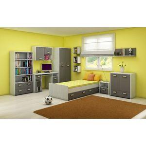 WIP Detská izba KITTY 2 Farba: craft biely / grafit vyobraziť