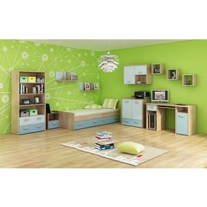 WIP Detská izba KITTY 3 Farba: Dub sonoma svetlá / blankytná / modrá vyobraziť