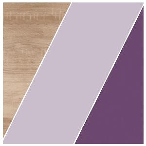 WIP Nočný stolík KITTY 12 Farba: Dub sonoma svetlá / levanduľa / fialová vyobraziť