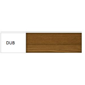 Drewmax Manželská posteľ - masív LK117 / 180 cm borovica Farba: Dub vyobraziť