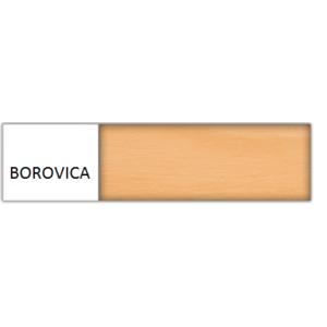 Drewmax Manželská posteľ - masív LK118 / 160 cm borovica Farba: Borovica vyobraziť