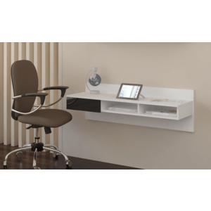 WIP PC stolík visiaci Uno biely / čierny lesk Uno: pc stolík vyobraziť