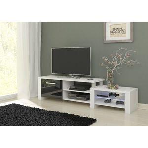 WIP TV stolik Orion Farba: Biela / čierny lesk vyobraziť