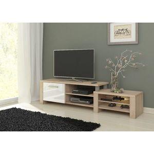WIP TV stolik Orion Farba: Dub sonoma svetlý / biely lesk vyobraziť