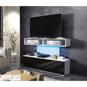 WIP TV STOLÍK REX Farba: Biela / čierny lesk vyobraziť