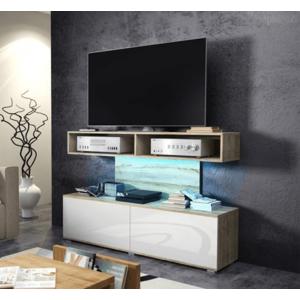 WIP TV STOLÍK REX Farba: Dub sonoma svetlá / biely lesk vyobraziť