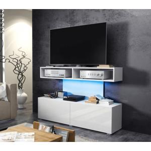 WIP TV STOLÍK REX Farba: biely lesk / biela vyobraziť
