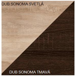 WIP TV STOLÍK REX Farba: Dub sonoma svetlý / dub sonoma tmavý vyobraziť