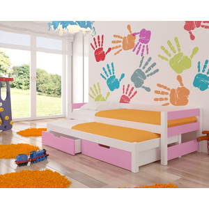 ArtAdr Detská posteľ Fraga Farba: biela / ružová vyobraziť
