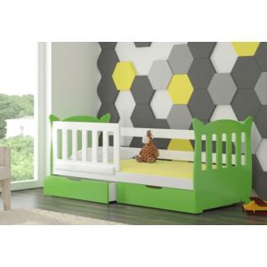 ArtAdr Detská posteľ Lena Farba: biela / zelená vyobraziť