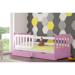 ArtAdr Detská posteľ Lena Farba: biela / ružová vyobraziť