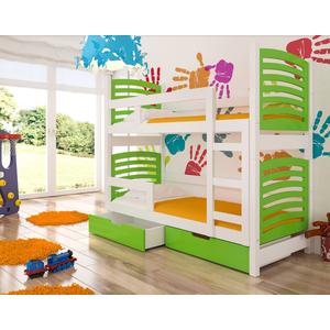 ArtAdr Detská poschodová posteľ Osuna Farba: biela / zelená vyobraziť