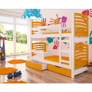 ArtAdr Detská poschodová posteľ Osuna Farba: Biela / oranžová vyobraziť