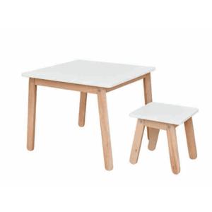 ArtBel Detský set stôl & stolička WOODY Farba: Biela vyobraziť