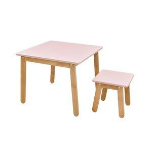 ArtBel Detský set stôl & stolička WOODY Farba: Ružová vyobraziť