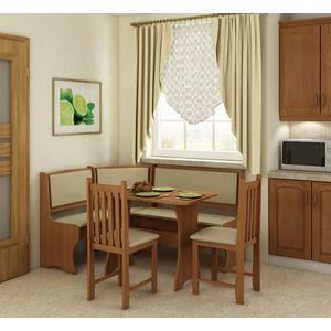 WIP Rohový set so stoličkami Prevedenie: Jelša / Eco béžová / Stolička B vyobraziť