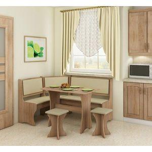 WIP Rohový set s taburetkami Prevedenie: Craft biely / Monaco vyobraziť