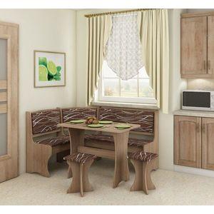 WIP Rohový set s taburetkami Prevedenie: Dub sonoma svetlá / Safari vyobraziť