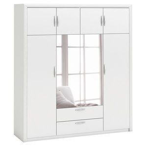 Skriňa 4-dverová PLUTON perleťovo biela vyobraziť