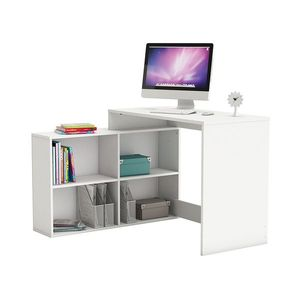 Rohový písací stôl CORNER biely vyobraziť