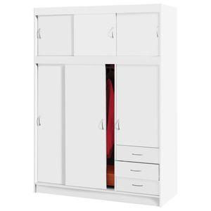 Skriňa s posuvnými dverami 3000 biela vyobraziť