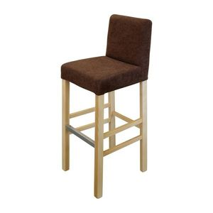 Barová stolička BARI buk/tmavo hnedá vyobraziť