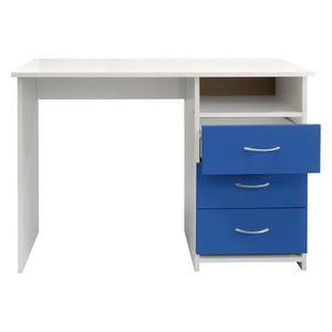 Písací stôl 44 modrá/biela vyobraziť