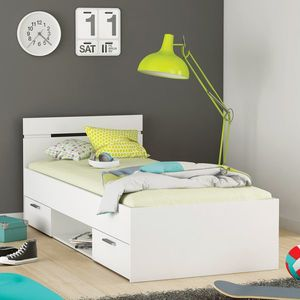 Multifunkčná posteľ 90x200 MICHIGAN perleťovo biela vyobraziť
