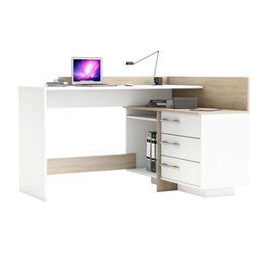 Písací stôl rohový THALES 484881 dub/biela vyobraziť