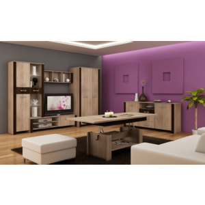 WIP Obývacia stena HUGO II Farba: Dub sonoma svetlá / dub sonoma tmavá vyobraziť