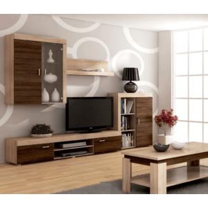 WIP Obývacia stena MAMBA Farba: Dub sonoma svetlá / dub sonoma tmavá vyobraziť